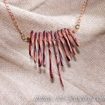 Boho style necklace bronze chips 02