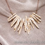 Boho style necklace ivory chips 03