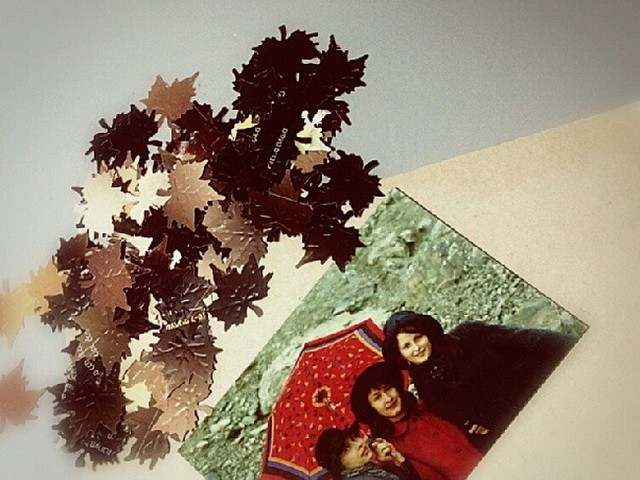 Fall Maple Leaves Scrapbooking DIY tutorial