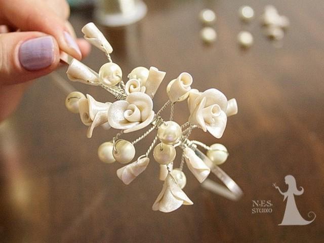 Handmade vintage style wedding tiara DIY