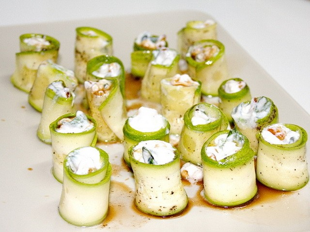 Zucchini and ricotta antipasti