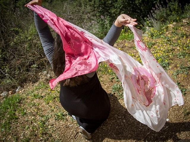 More handpainted silk scarves