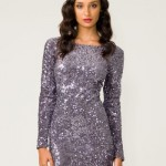 Motel Gabby Sequin Dress in Charcoal