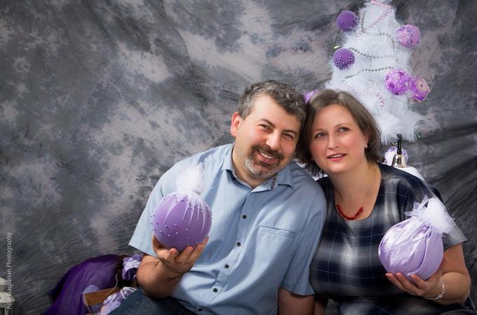 Christmas decorations DIY lilac balls